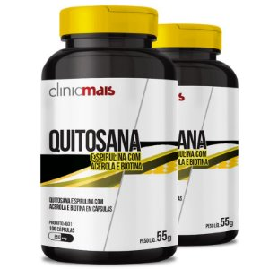 Kit 2 Quitosana 450mg Chá mais 100 cápsulas