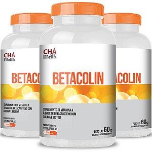 Kit 3 Betacolin Vitamina A 500mg Chá Mais 120 cápsulas