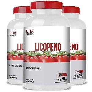 Kit 3 Licopeno Vitamina E 450mg Chá Mais 100 cápsulas