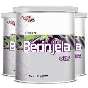 Kit 3 Farinha de Berinjela Chá Mais 100g