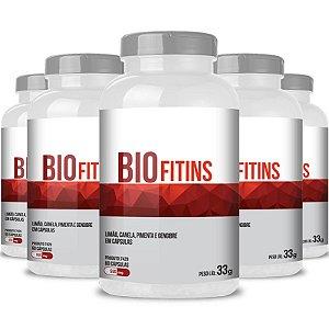 Kit 5 Bio Fitins Termogenico 550mg Chá Mais 60 cápsulas