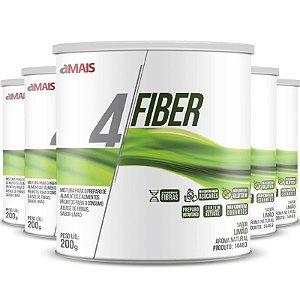 Kit 5 - 4 Fiber Fibras soluveis chá mais 200g sabor Limão