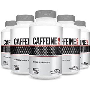 Kit 5 Cafeína Caffeine 480mg Chá Mais 90 cápsulas