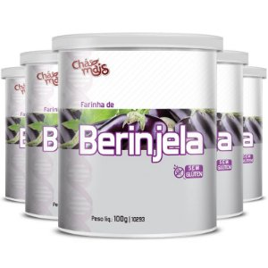Kit 5 Farinha de Berinjela Chá Mais 100g