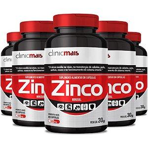 Kit 5 Zinco 500mg Chá mais 60 cápsulas