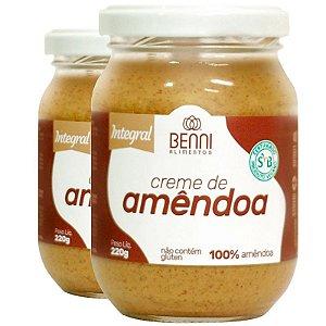 Kit 2 Creme de Amêndoa 220g Benni alimentos