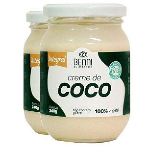 Kit 2 Creme de coco 240g Benni alimentos