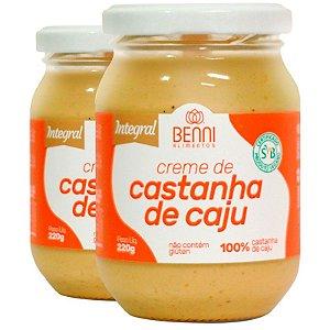Kit 2 Manteiga de castanha de caju 220g Benni alimentos