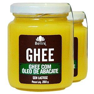 Kit 2 Manteiga GHEE com Óleo de Abacate 200g Benni