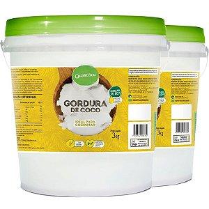 Kit 2 Gordura de Coco Balde 3,2Kg Qualicôco