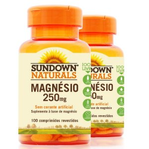 Kit - 2 Magnesium 250mg Sundown 100 Cápsulas