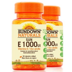 Kit 2 Vitamina E 1000 Ui Sundown 30 Cápsulas