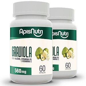 Kit 2 Graviola Apisnutri 60 cápsulas