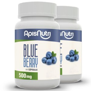 Kit 2 Blueberry Apisnutri 120 cápsulas