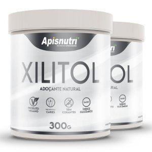 Kit 2 Xylitol adoçante natural Apisnutri 300g
