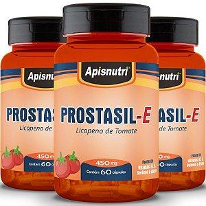 Kit 3 Prostasil-E Licopeno Apisnutri 60 cápsulas