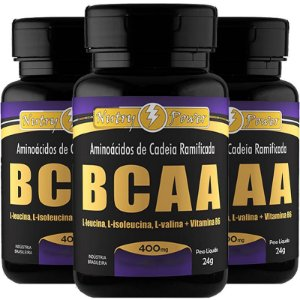Kit 3 BCAA 4:1 Nutry Power 120 cápsulas