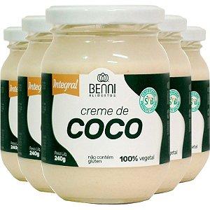 Kit 5 Creme de coco 240g Benni alimentos