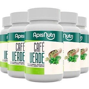Kit 5 Café Verde Apisnutri 90 comprimidos