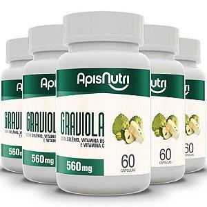 Kit 5 Graviola Apisnutri 60 cápsulas