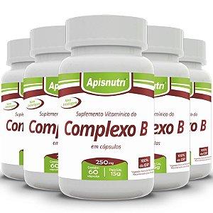 Kit 5 Complexo B Apisnutri 60 cápsulas