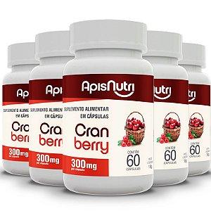 Kit 5 Cranberry Apisnutri 60 cápsulas