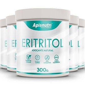 Kit 5 Eritritol adoçante natural Apisnutri 300g