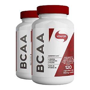 Kit 2 Aminofor BCAA Vitafor 120 cápsulas