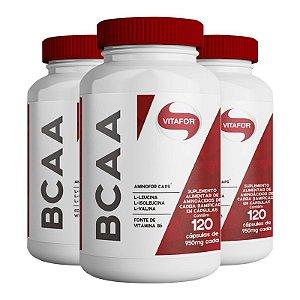 Kit 3 Aminofor BCAA Vitafor 120 cápsulas