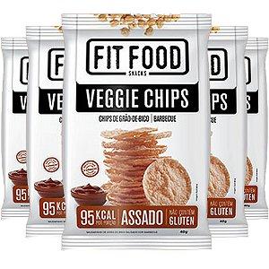 Kit 5 Veggie Chips Grão De Bico Sabor Barbecue 40g Fit Food