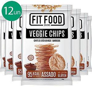 Kit 12 Veggie Chips Grão De Bico Sabor Barbecue 40g Fit Food