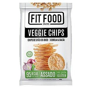 Veggie Chips Grão De Bico Sabor Cebola e Salsa 40g Fit Food