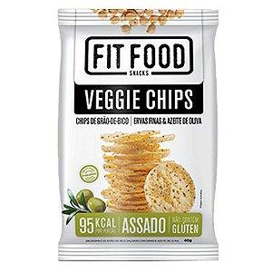 Veggie Chips Grão De Bico Sabor Ervas Finas 40g Fit Food