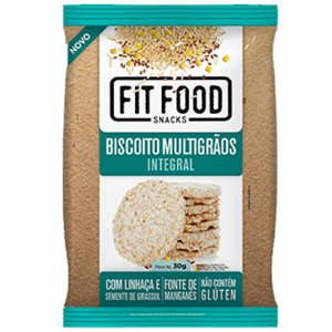 Biscoito de Arroz Multigrãos 30g Fit food