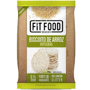 Biscoito de Arroz Natural 30g Fit food
