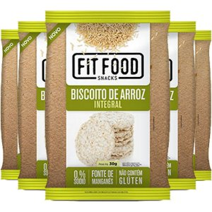 Kit 5 Biscoito de Arroz Natural 30g Fit food
