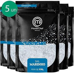 Kit 5 Sal Marinho para Churrasco 500g MasterChef Brasil