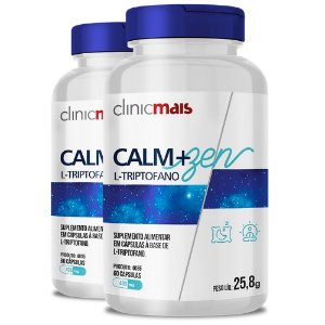 Kit 2 CALM+ZEN L-Triptofano 60 cápsulas Clinicmais