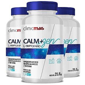 Kit 3 CALM+ZEN L-Triptofano 60 cápsulas Clinicmais