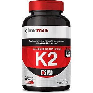 Suplemento de Vitamina K2 30 cápsulas Clinicmais