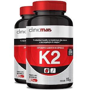 Kit 2 Suplemento de Vitamina K2 30 cápsulas Clinicmais