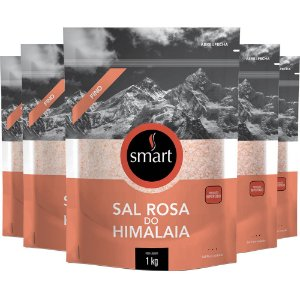 Kit 5 Sal Rosa do himalaia fino SMART 1KG