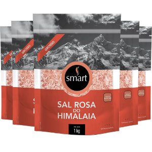 Kit 5 Sal rosa do himalaia grosso SMART 1kg
