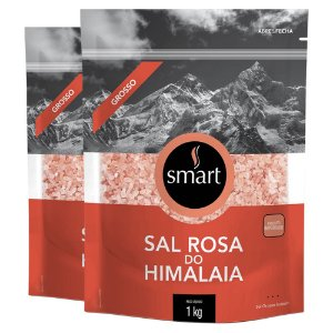 Kit 2 Sal rosa do himalaia grosso SMART 1kg