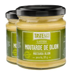 Kit 2 Mostarda Dijon Taste&Co 185g