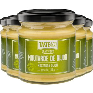 Kit 5 Mostarda Dijon Taste&Co 185g