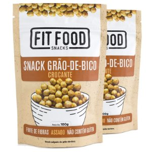 Kit 2 Snack Grão de Bico Levemente Salgado Fit Food 100g