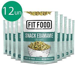 Kit 12 Snack Edamame Levemente Salgado Fit Food 100g
