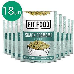 Kit 18 Snack Edamame Levemente Salgado Fit Food 100g