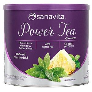 Power Tea Chá verde abacaxi com hortelã 200g da Sanavita